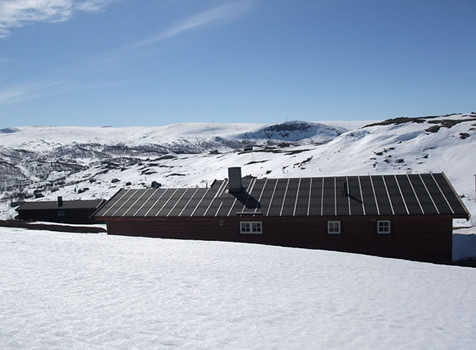 Om vinteren er snøskuter transport til hytten inkludert i leien ved